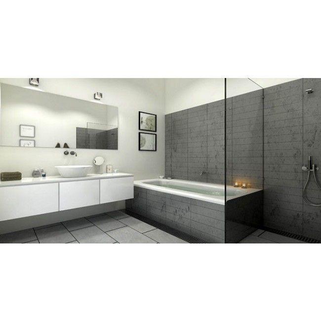 Snyggt och tidlöst badrum med både badkar.. | Bathroom | Pinterest