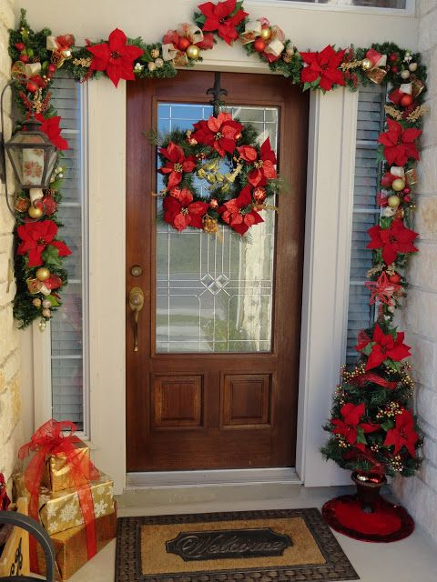 FRONT DOOR CHRISTMAS DECOR Christmas Pinterest Christmas decor