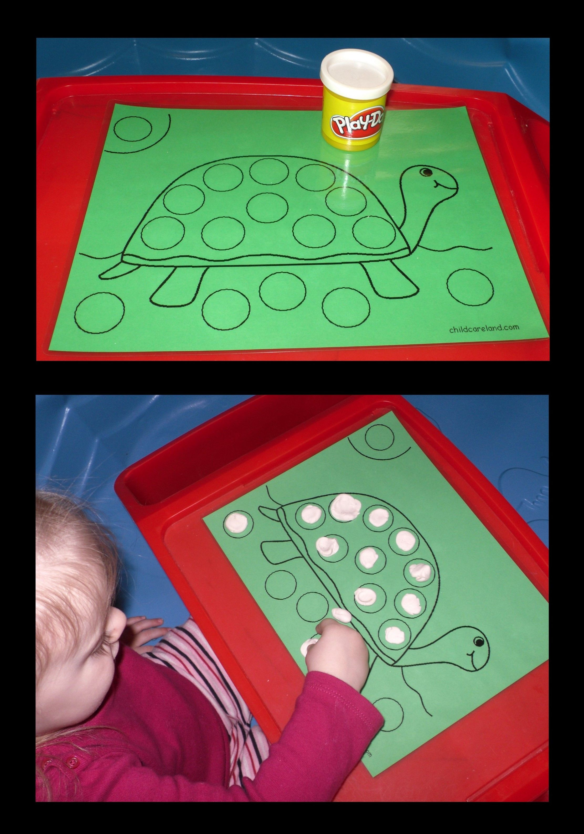Laminated Play Dough Mat For Little Hands We Gave The