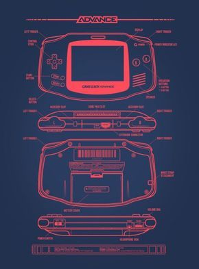 Gameboy Advance Schematics Game Boy Videojuegos Retro Consolas Videojuegos