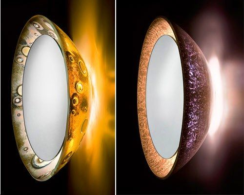 Full Moon Lighted Mirrors