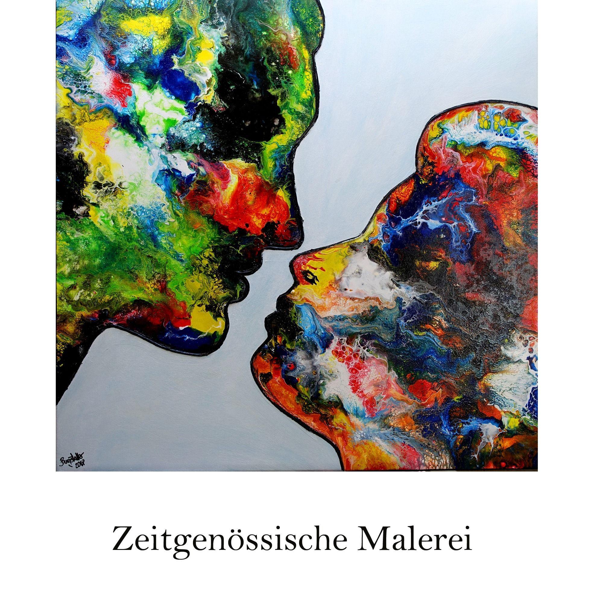 Moderne Kunst Abstrakte Malerei Und Figurliche Acryl Gemalde