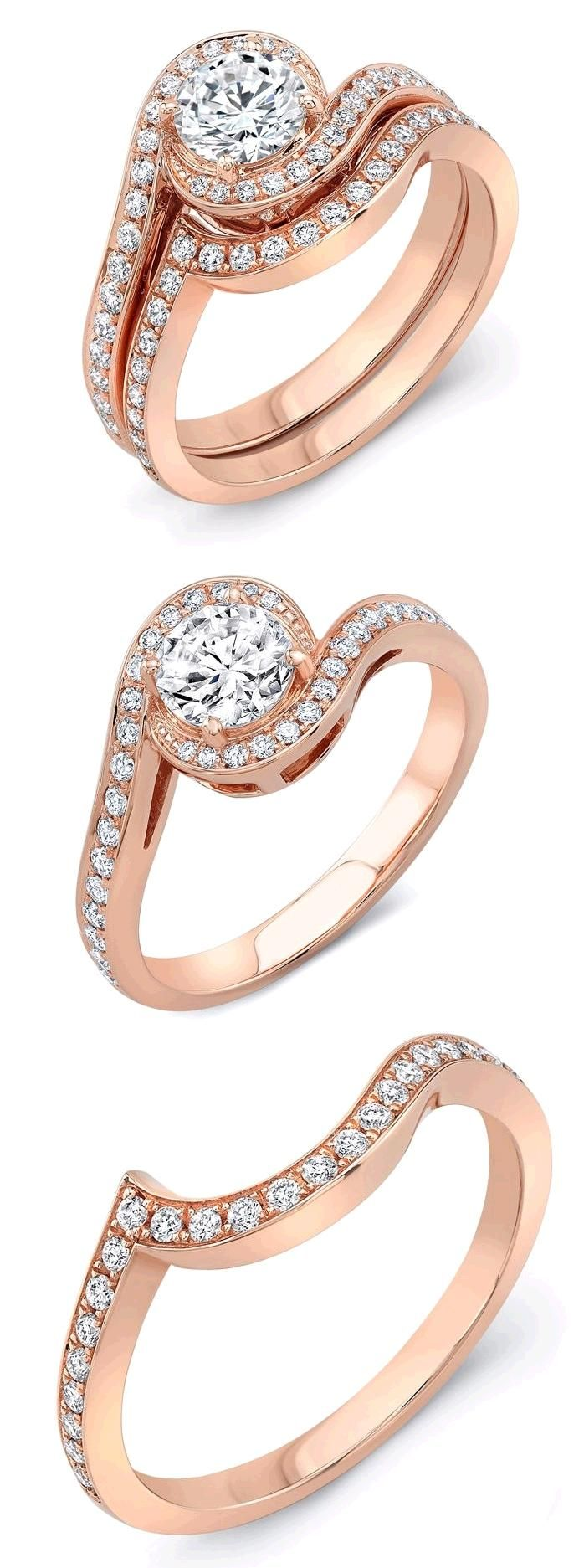 Kt rose gold diamond rings bisutería pinterest rose gold