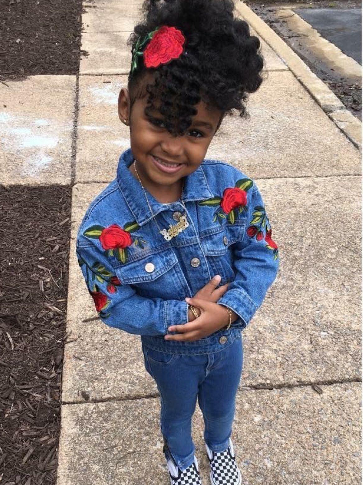 Cute kids fashion baby girl fashion toddler fashion black kids top bun
