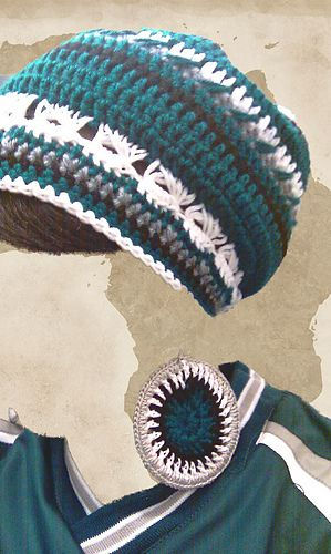 3ace7d9c philadelphia eagles crochet hat pattern - Google Search | Crochet ...