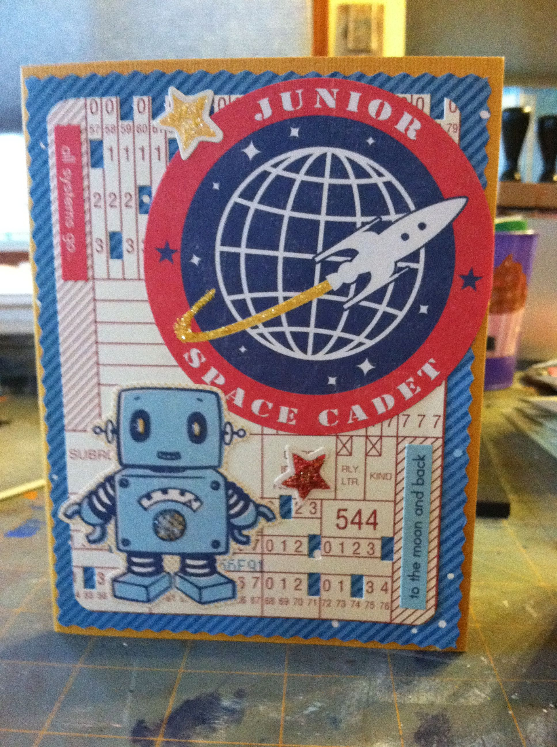 October Afternoon Rocket Age Card Handmade Cards Stampin Up Cards Handmade Boy Cards