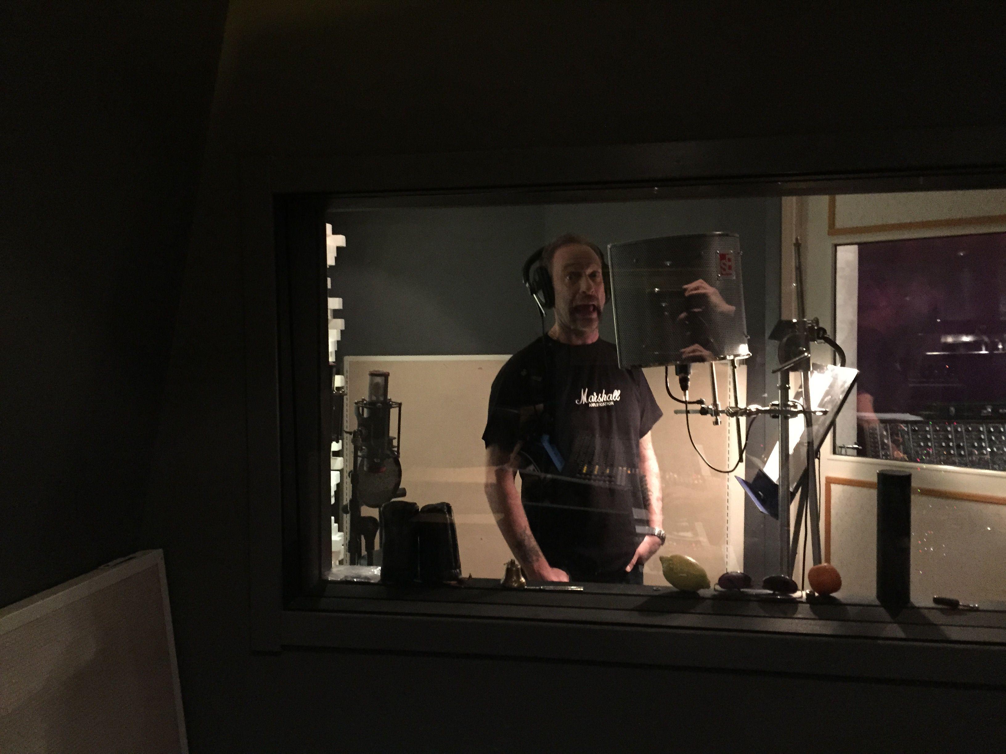 Just goofing off in studio... #renegadefive