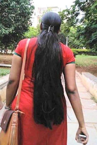 thick black long hair