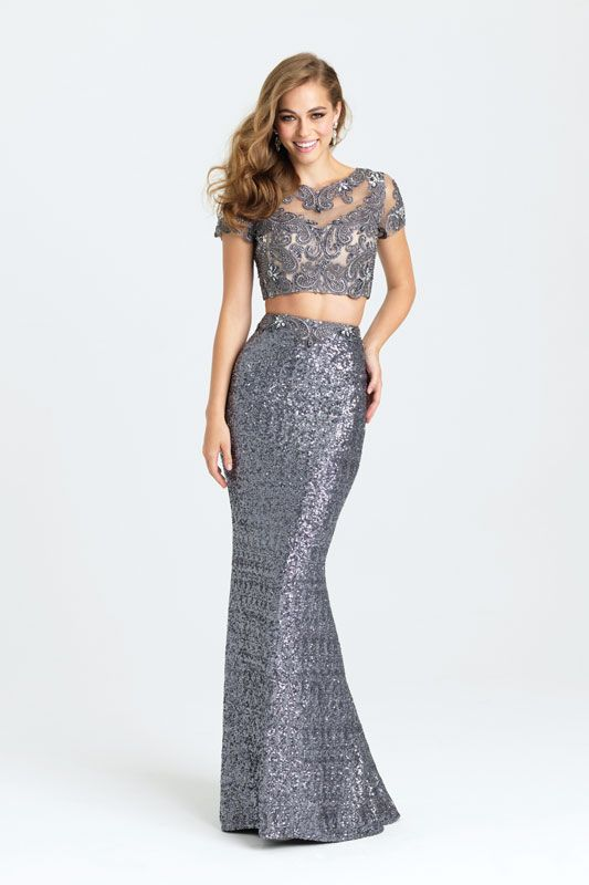 99bfa3f8d3 Stand out from the crowd at your formal in this sequined crop top and skirt  set. Only available at selected stores.