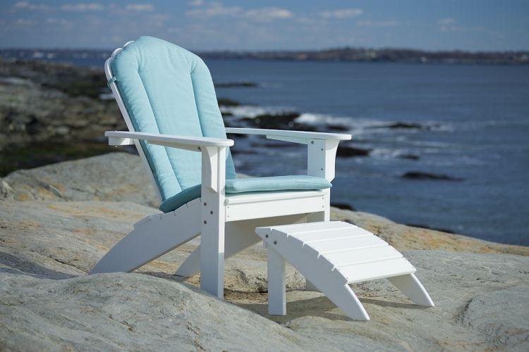 Seaside Casual Coastline Adirondack and cushion