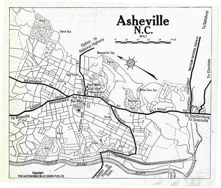 City map Asheville NC Asheville NC Pinterest City maps