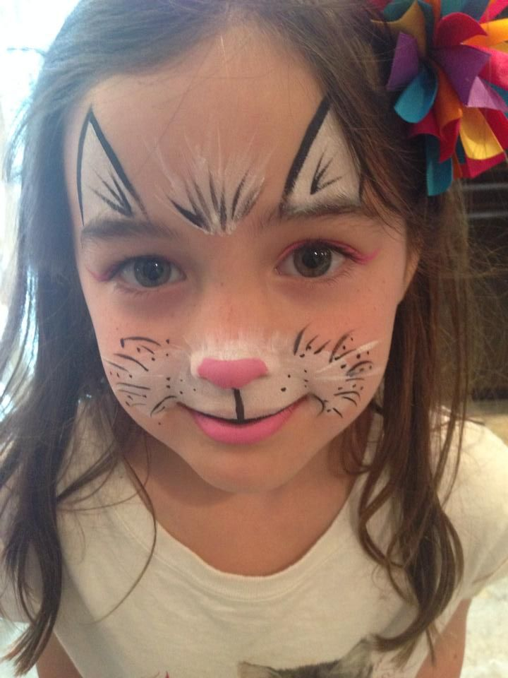 Face Paintings Of Cats For Halloween
