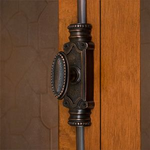 Solid Brass Beaded Cremone Bolt Hardware Cremone Bolt Brass Door Signature Hardware