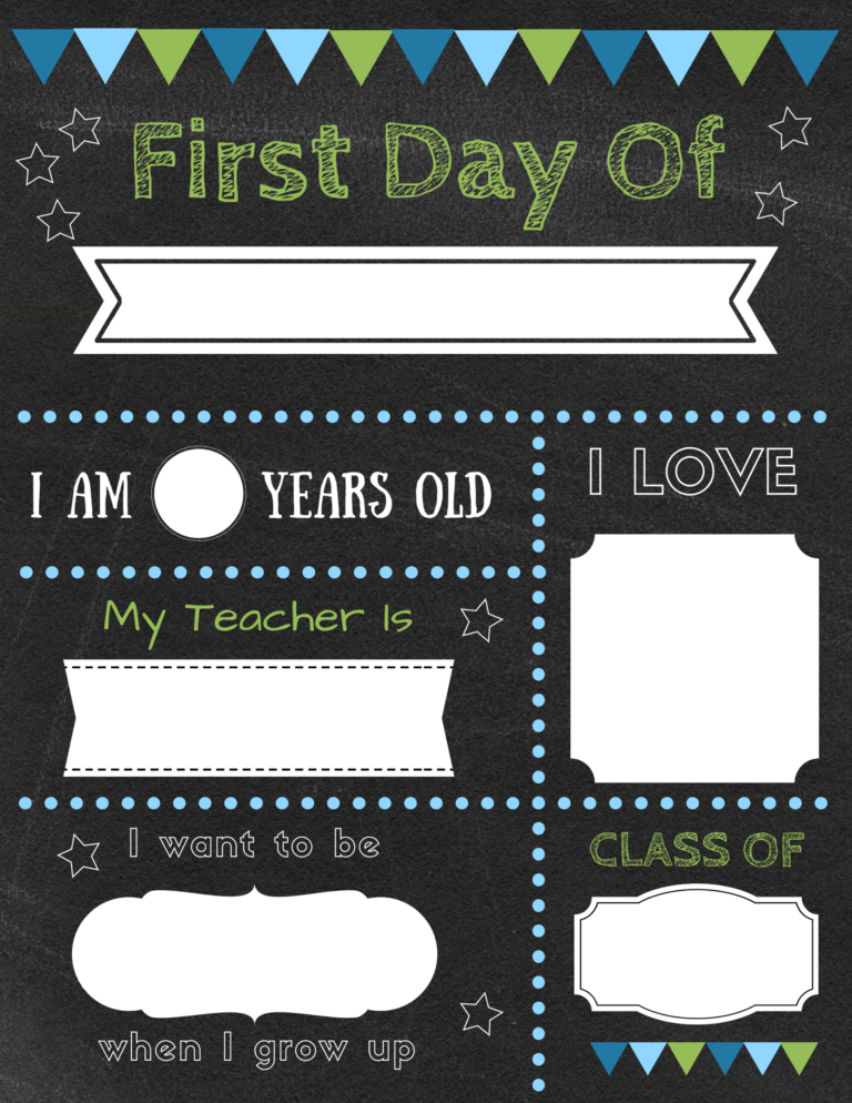 Editable first day of school signs to edit and download for
