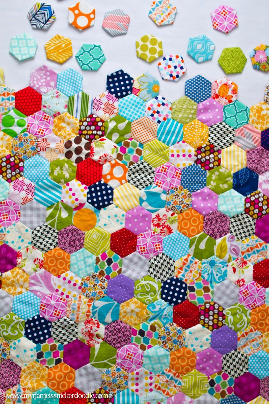 A love for hexagons hexagon quilt english paper piecing