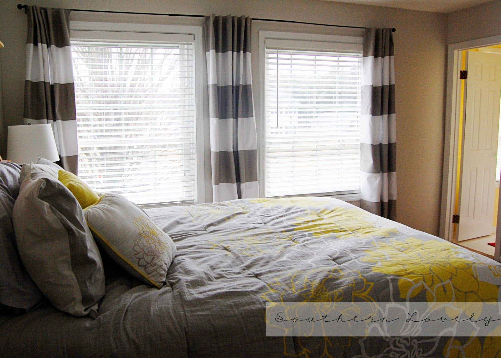 Southern Lovely: DIY {Striped & Lined} Curtains