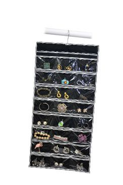 Jewelry File Item 0305ZB Twosided design has 48 plastic pockets
