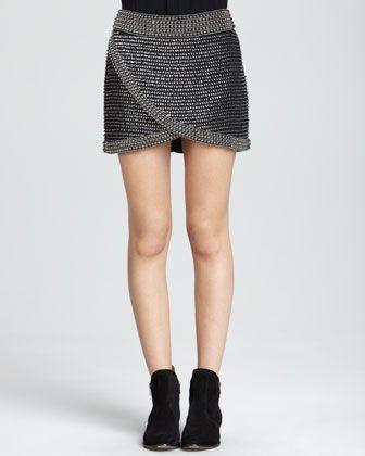 Parker Sabrina Beaded Wrap Skirt - Neiman Marcus