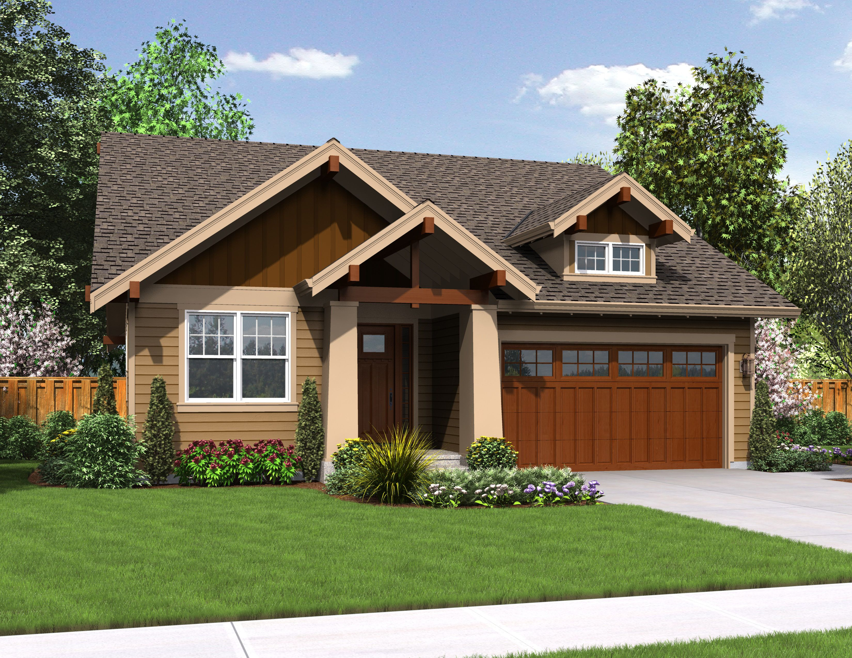 Craftsman Ranch Home Exterior plan 69554am: 3 bedroom craftsman ranch home plan | house plans