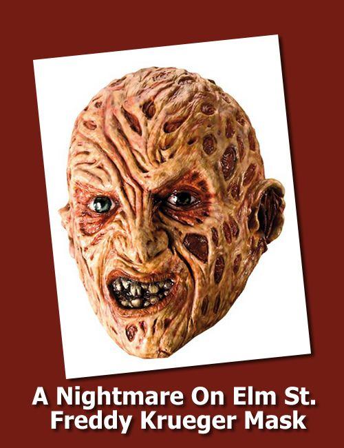 Adult Scary Burnt Man Nightmare Mask Halloween Horror Freddy Fancy Dress Costume