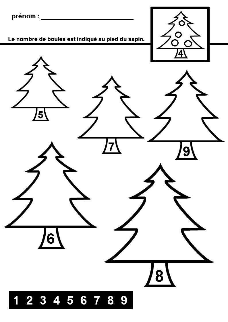Mathématiques autour du thème de Noël   Noel maternelle ...