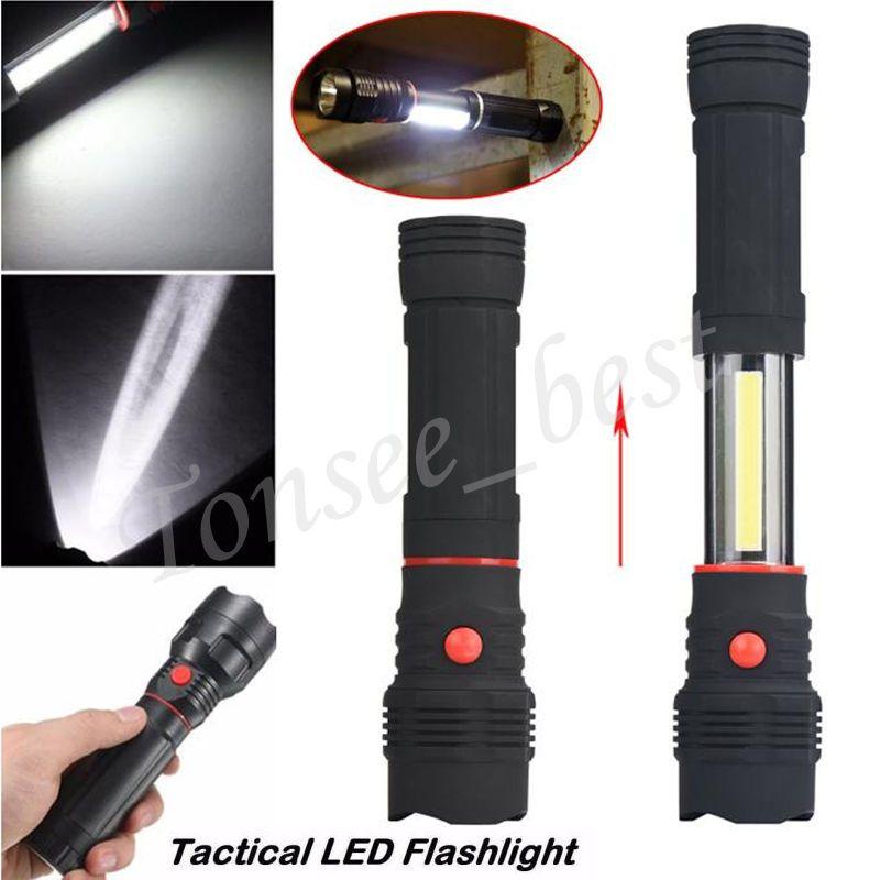 5 87 1200lm Cob Led Flashlight Magnetic End Black Work Light Inspection Lamp Torch Ebay Home Garden