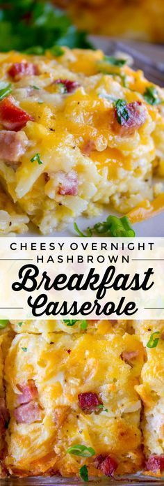 Cheesy Overnight Hashbrown Breakfast Casserole from The Food Charlatan This Che  Things I should try