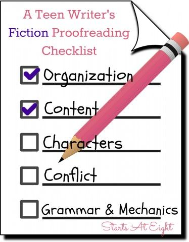 proofreading checklist college
