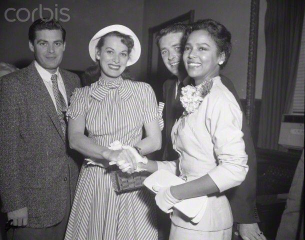 Dorothy Dandridge Famous Quotes: Dorothy Dandridge With Maureen O'Hara And Her Brother