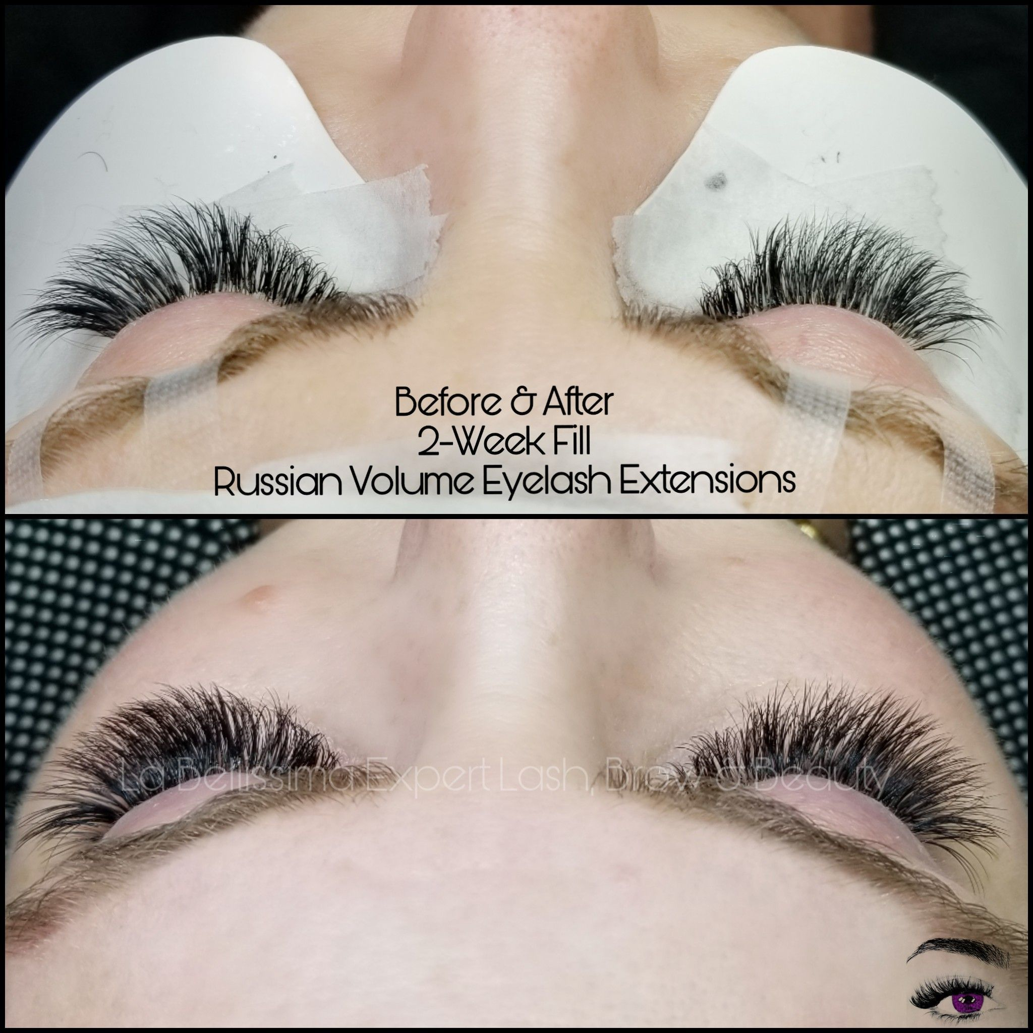 55b366a2d72 My clients come in every two weeks for their lash extension fills. This  client tastes