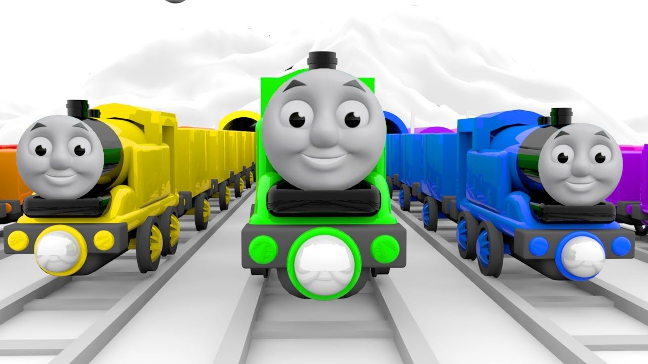 Thomas The Train For Kids Colors Learning Videos Thomas And Friends Co Rhymes For Kids Kids Tv Coloring For Kids