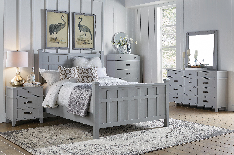 Bedroom Furniture - Felicity Grey 5pc King Bedroom Set