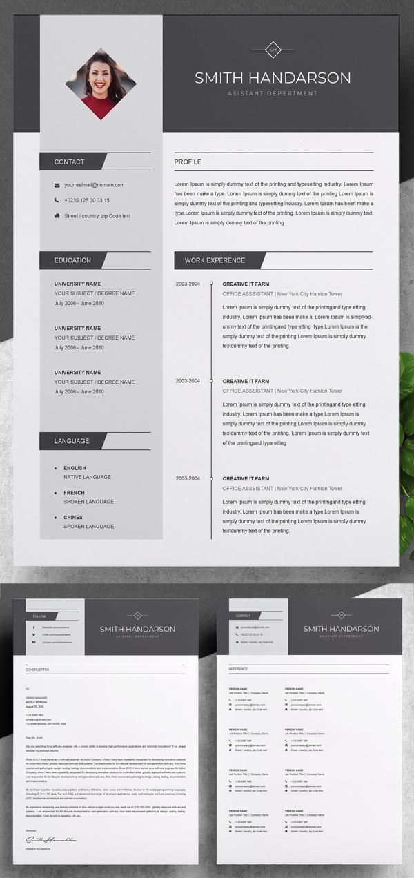 Resume Template Resume Template Microsoft Word Document Modern Resume Template