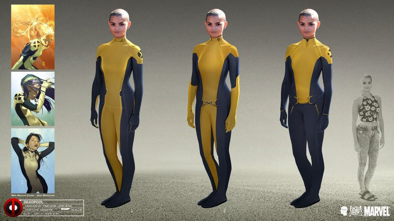 This Deadpool Concept Art Will Make You Love Negasonic Teenage Warhead Even More Teenage Warhead Deadpool Costume Costume Design