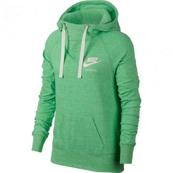Nike Womens Gym Vintage Pull Over Hooded Sweatshirt 78 Aud Liked On Polyvore Featuring Tops Hoodies Green H Vintage Hoodies Hoodies Womens Clothes Design