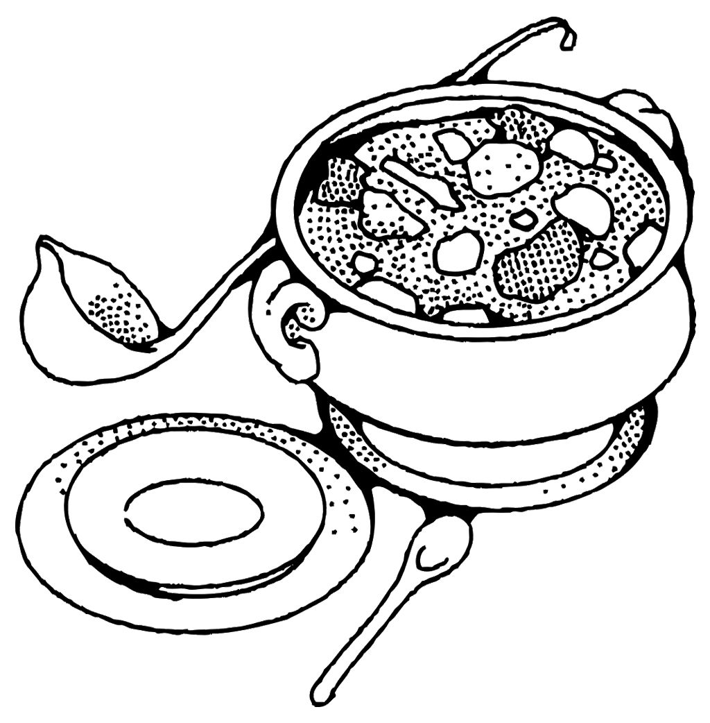 soup and sandwiches coloring pages - photo#1