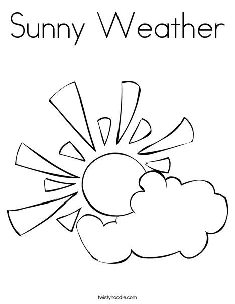 Sunny Weather Coloring Page Atividades