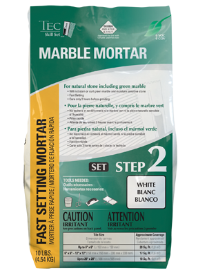 Use Marble Mortar to install marble tile on floor or wall