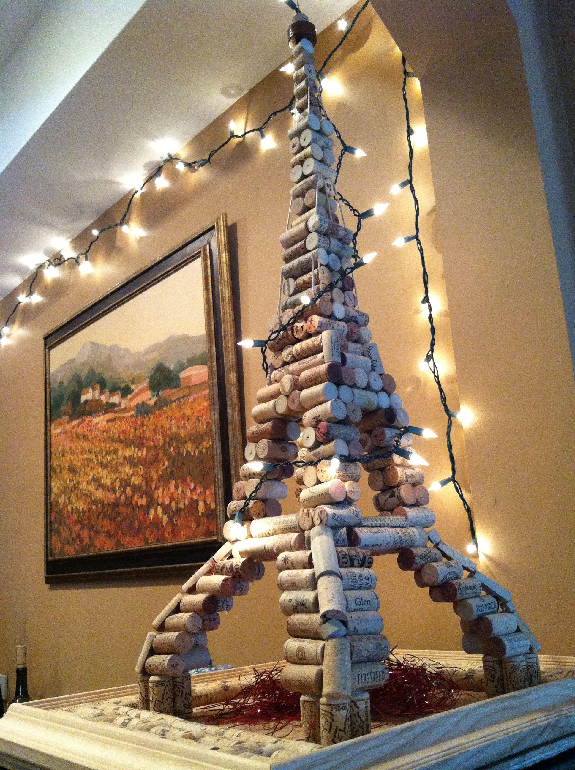 Handmade Wine Cork Eiffel Tower Beso De Vino Eiffel