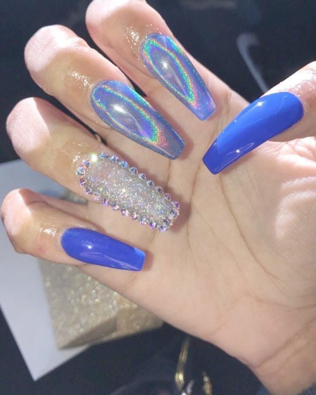 Color Shooting Star Effect Glitter Nail Polish Lacquer