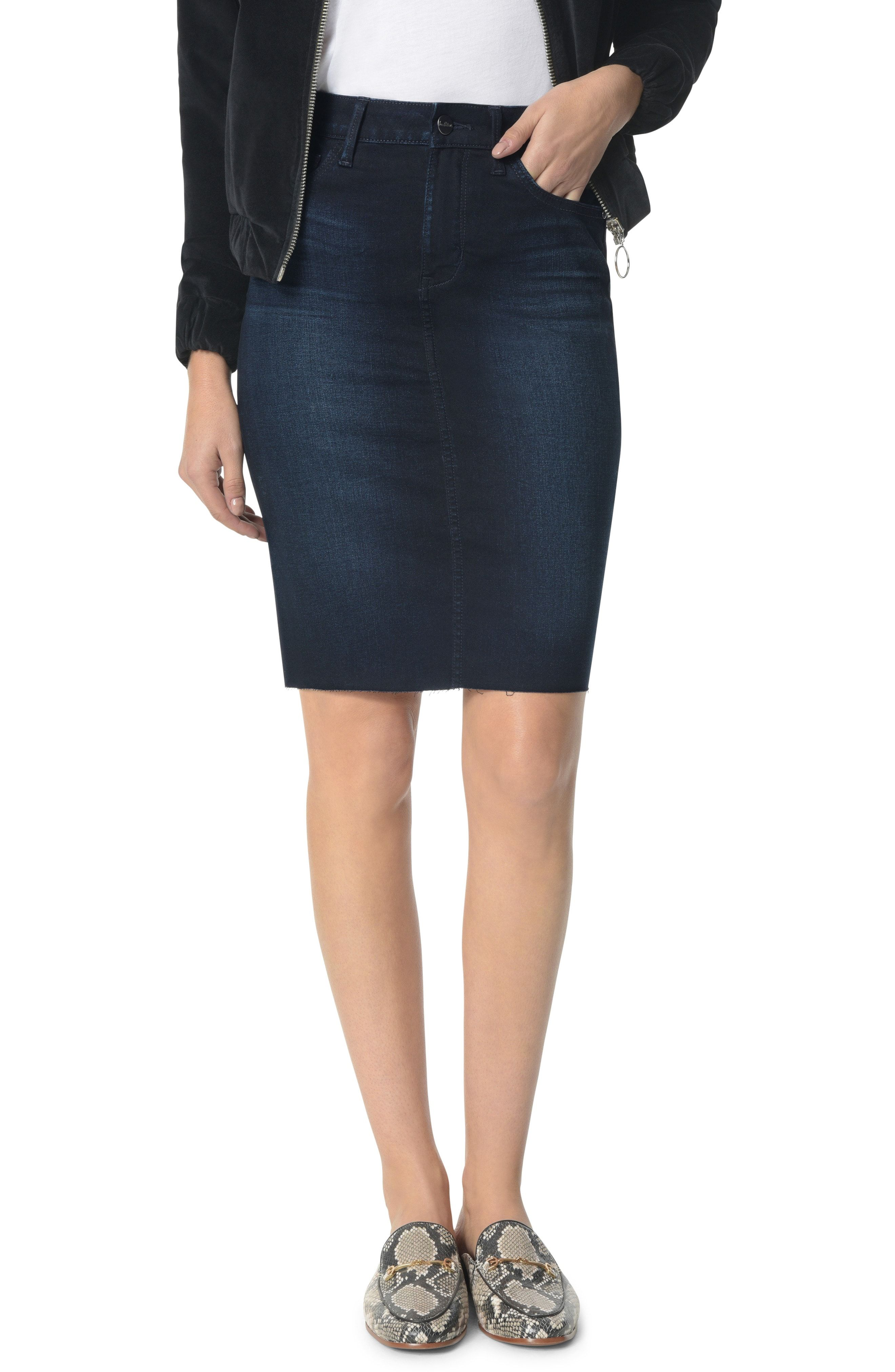 38bed286c Sam Edelman The Riley Raw Edge Denim Skirt available at  Nordstrom ...