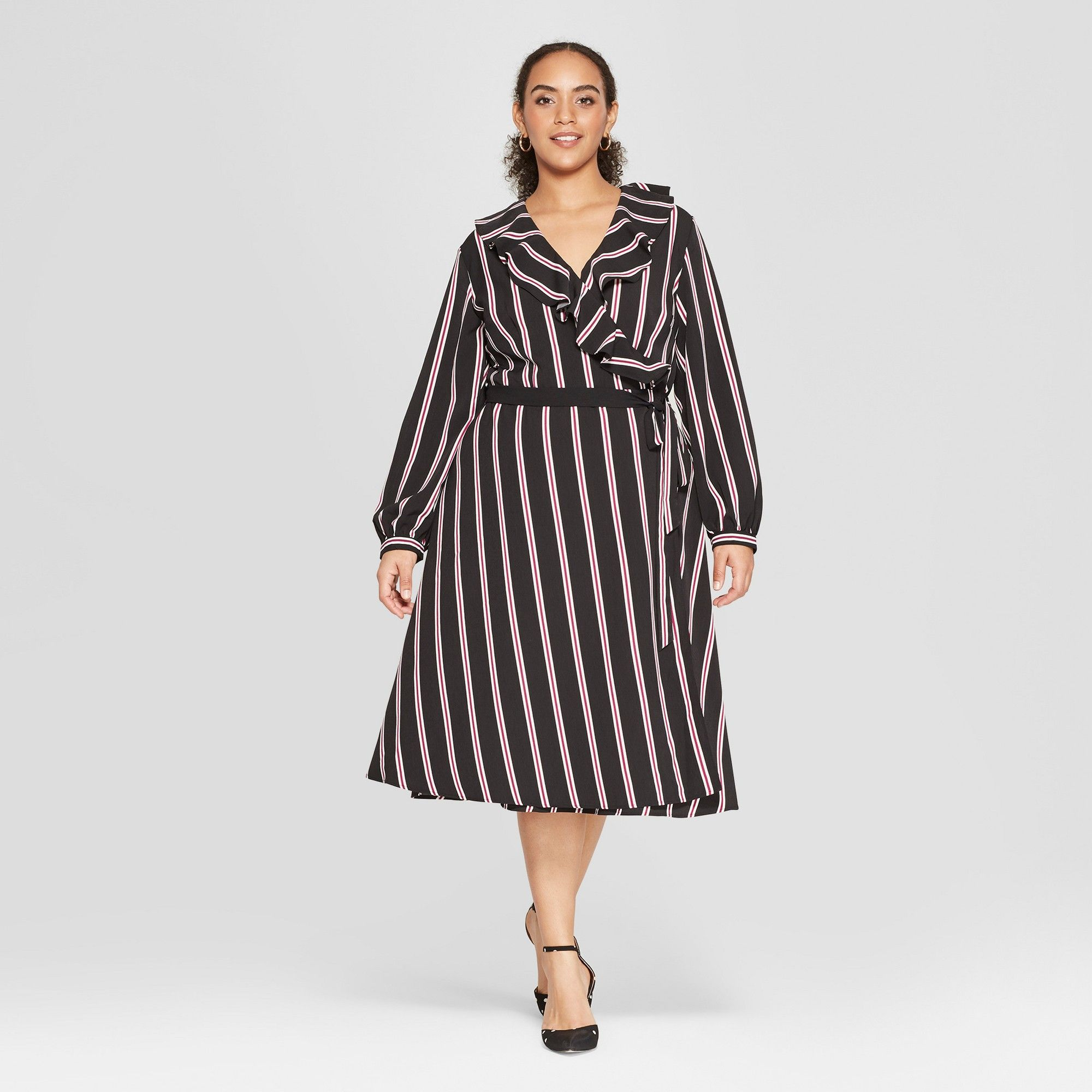 fefc34e1ff59 Long Black Wrap Dress Plus Size - raveitsafe