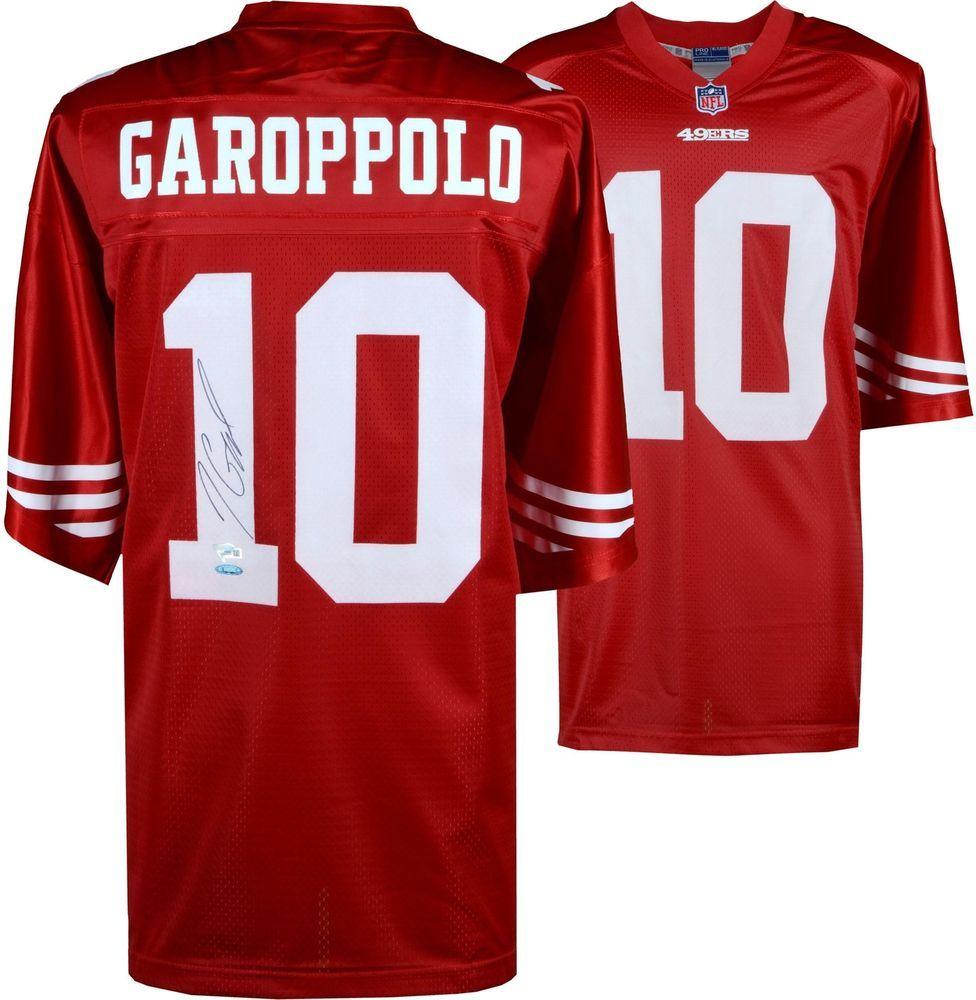 143c27302 Jimmy Garoppolo San Francisco 49ers Autographed Red NFL Pro-Line Jersey   sportsmemorabilia  autograph  football