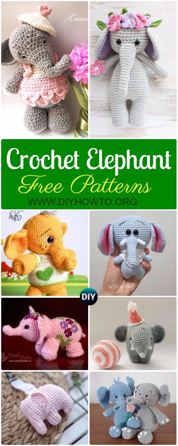 Crochet Elephant Softies and More Free Patterns Tutorials: Amigurumi ...