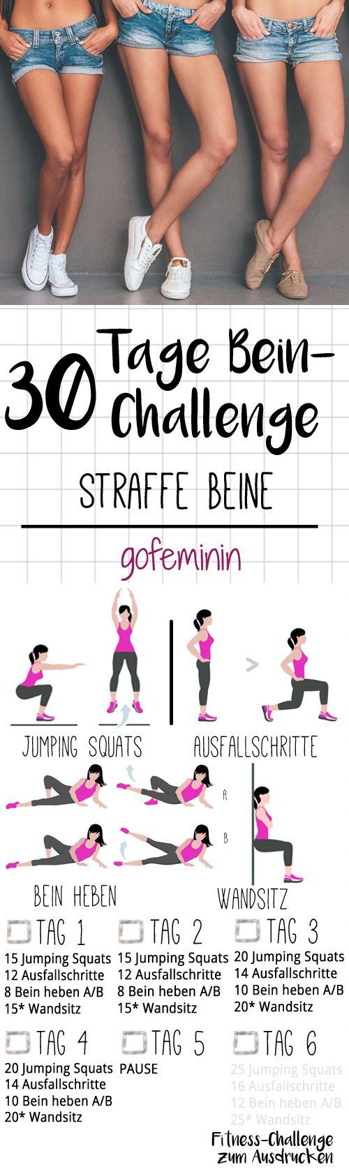 Für schöne straffe Beine: Die 30 Tage Bein-Challenge! #weighttraining