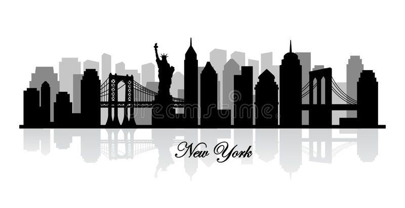 Foto acerca Silueta del horizonte de Nueva York del vector. Éste es ...