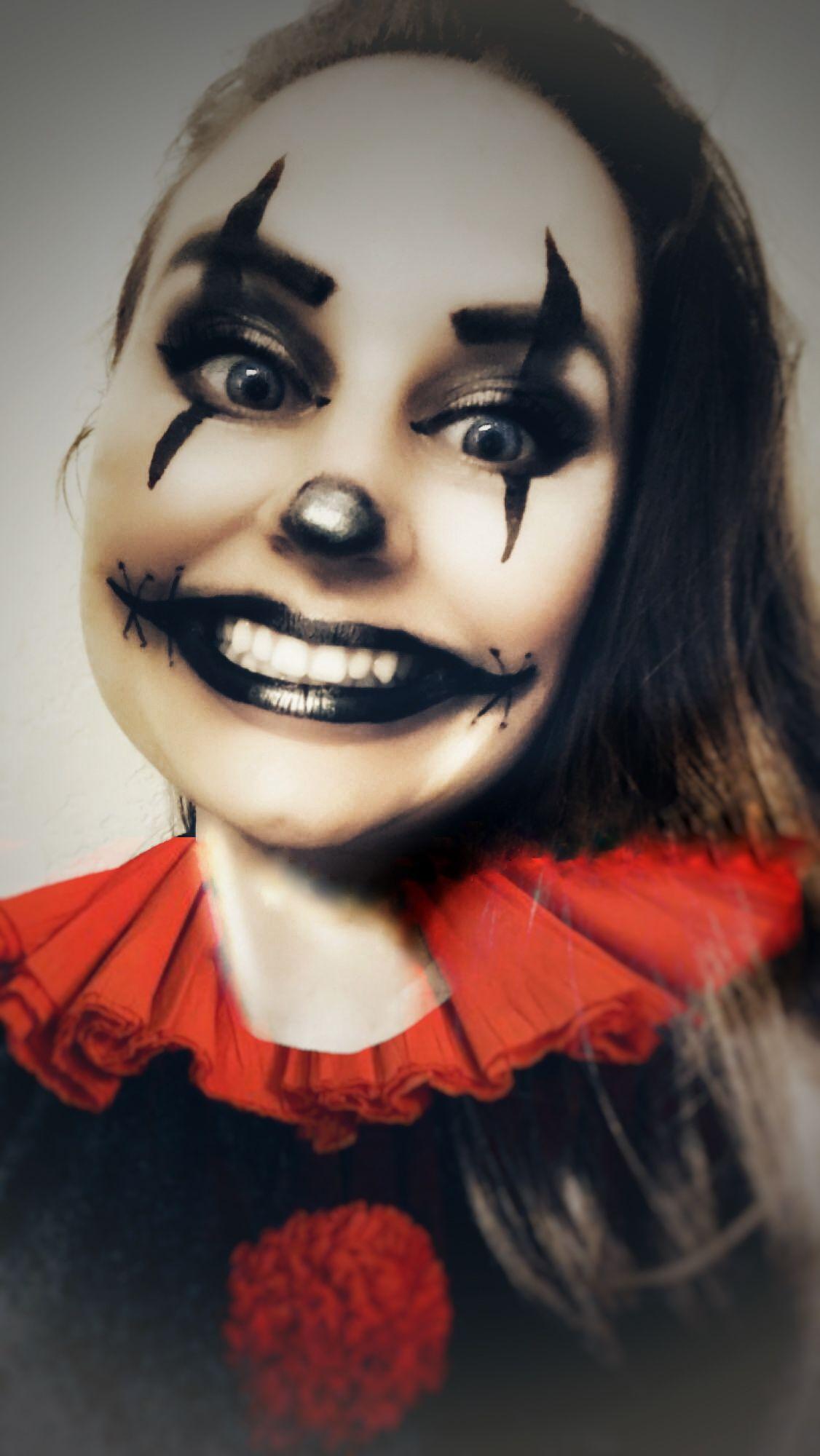 Creepy clown! Horror makeup, Clown makeup, Special