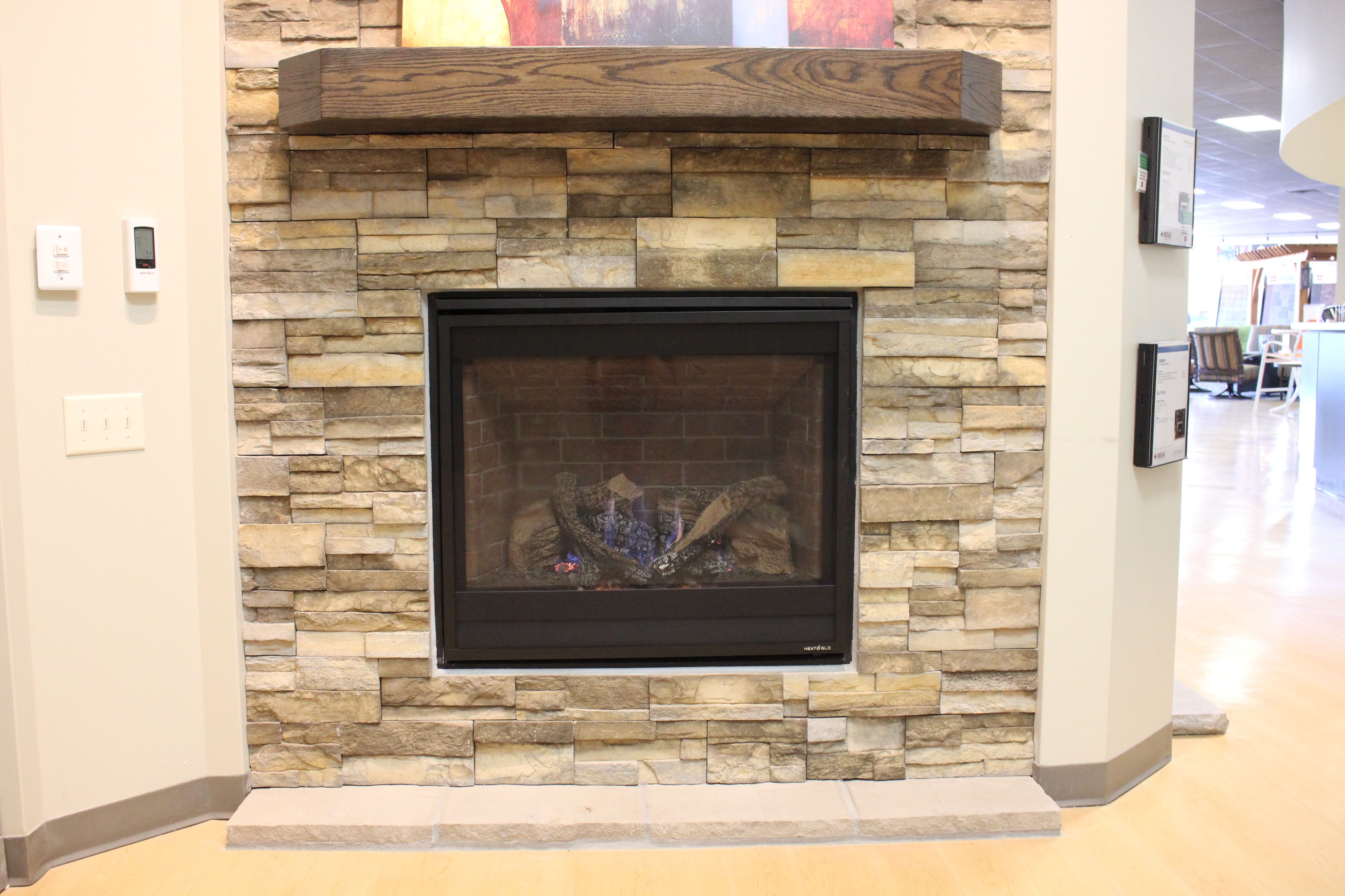 Gas Fireplaces Don T Always Have To Be Linear To Be Charming