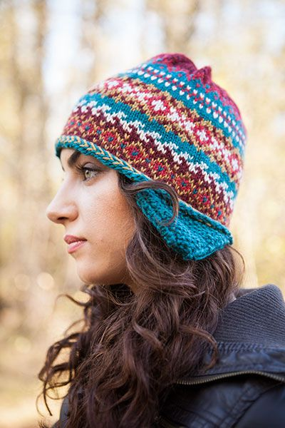 Fair Isle Earflap Hat & Cowl - Knitting Patterns and Crochet ...