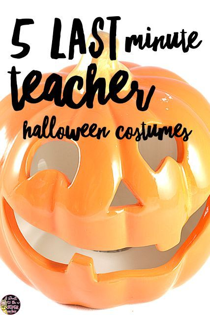 5 Last Minute Halloween Costumes for Teachers Teacher halloween - halloween costume ideas for groups of 5